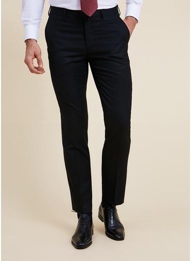 Bisse PPNK20K20210 Regular Fit Platinum Düz Klasik Pantolon Siyah